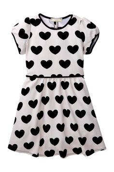Soprano | Knit Heart Print Dress (Little Girls) | Nordstrom Rack