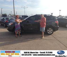 #HappyBirthday to Glenn Starrett from Kayla Lowery at Randall Noe Subaru!