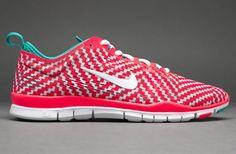 Womens Nike Free 5.0 Tr Fit 4 Prt - Womens Running Shoes - Laser Crimson-White-Turbo Green