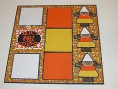 "Creative Cricut Designs & More....: ""Trick or Treat"" Halloween Scrapbook Layout"
