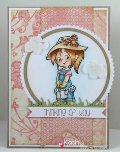 CC Designs, Nancy Gardens, Friends Sentiments, MAC #13 Spring Die, Circle die, circle scallop die