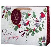 cancer research UK robin landscape bag Christmas Gift Bags, Christmas Shopping, Bags 2014, Cancer Research Uk, Foil Stamping, Presents, Gift Wrapping, Colours, Paper