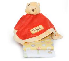 Baby needs a blanket attached to a Winnie the Pooh