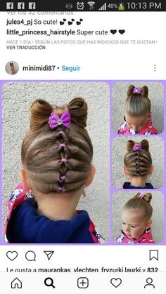 Carmen Mora's 665 media analytics Today Pin is part of Toddler hair - Carmen Mora's 665 media analytics Carmen Mora Girls Hairdos, Lil Girl Hairstyles, Princess Hairstyles, Braided Hairstyles, Toddler Hairstyles, Teenage Hairstyles, Female Hairstyles, Gymnastics Hair, Hair Due