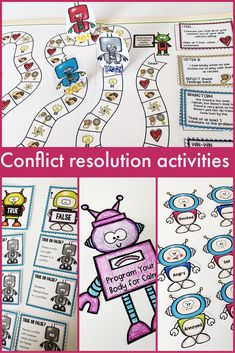 This small group counseling program teaches students conflict resolution skills! These conflict resolution activities are fun, hands-on, and movement-based ways to teach students conflict resolution strategies in group counselor or classroom guidance lessons. #schoolcounseling #classroomguidance #conflictresolution #groupcounseling #smallgroup #counselorkeri