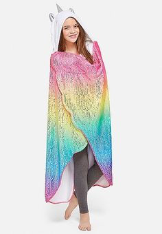 Rainbow Unicorn Cozy Blanket | Justice