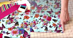 After She Cuts Fabric Down to 16″ Squares, You'll Wonder Why You Didn't Think of This Handy Project First!