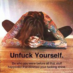 Take back yourself.