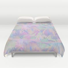 Painterly Soft Floral Waves Abstract Duvet Cover