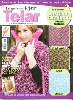 telar. telar manual etc Loom Knitting, Free Knitting, Loom Weaving, Hand Weaving, Knit Or Crochet, Crochet Hats, Crochet Ideas, Weaving Projects, Book Crafts