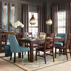 Build Your Own Parsons Tobacco Brown Corinne Dining Collection