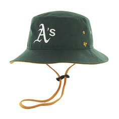 Oakland Athletics Kirby Bucket Dark Green 47 Brand Hat 43892bd8bd01