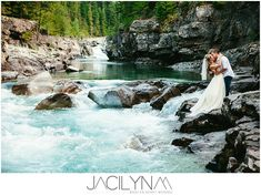 The most gorgeous wedding photo I have ever seen! Glacier National Park, Montana THIS is where i'd do my trash the dress! WOW