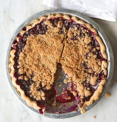 Find the recipe for Blueberry Crumble Pie and other fruit recipes at Epicurious.com