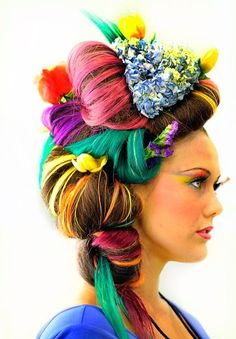 My Tulip Festival hair competition creation
