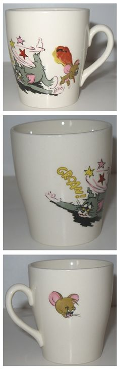 Remember Tom & Jerry? These Hanna Barbera characters have been around since the 1940s and poor old Tom is always getting bested by Jerry. Love this vintage coffee mug! #cartoons #tomandjerry