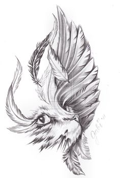 cat_and_bird_wing_by_inkaddicted4life-d5gkgdd.jpg (900×1336)
