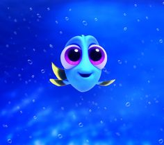 "So cute baby Dory from ""Finding Dory"""
