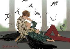 FanArt - BTS: JungKook e V na era Wings #Taekook #Vkook