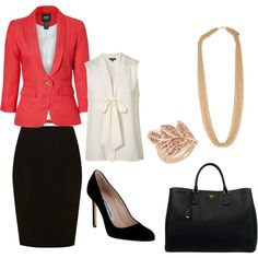Work Chic, created by meredith-hauser on Polyvore
