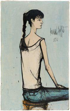 Rétrospective Bernard Buffet - Annabel à la natte, 1960 - Musée d'art moderne de la Ville de Paris - Jusqu'au 26/02/17