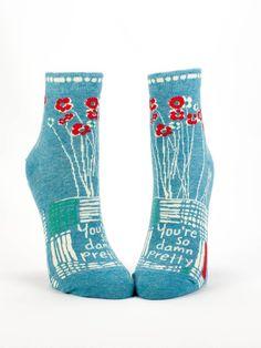 """Blue Q Ankle Socks """"So Damn Pretty"""""""
