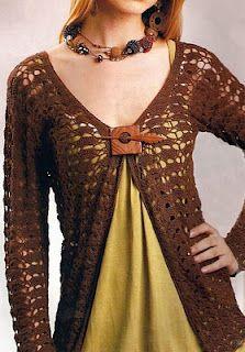 Patrones de Tejido Gratis: Chaqueta (crochet)