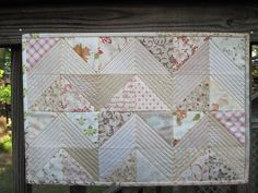 Placemat No. 1 Quilted & Bound by Blue.Ridge.Girl, via Flickr