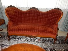 Settee Sofa, Couch, Dark Shadows Tv Show, Victorian Sofa, French Antiques, Love Seat, Singing, Castle, Carving