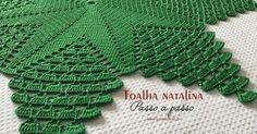 Toalha de mesa natalina passo a passo | Croche.com.br