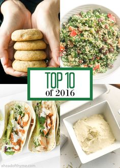 Top 10 of 2016: Browse the top 10 recipes featured on Ahead of Thyme in 2016 based on your views and comments. | aheadofthyme.com via @aheadofthyme