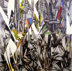 """Lee Krasner  Imperative  1976 Collage on canvas 50"""" x 50""""  National Gallery of Art, Washington, D.C."""