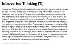 Introverted Thinking (Ti)