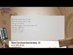 Where The Streets Have No Name - U2 Vocal Backing Track with chords and lyrics
