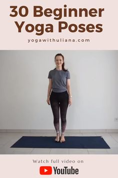 Yoga Videos For Beginners, Videos Yoga, Yoga Routine For Beginners, Workout Videos, Yoga Sequence For Beginners, Yoga Fitness, Fitness Workout For Women, Sports Challenge, Beginner Yoga Workout