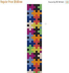 Jigsaw Puzzle peyote loom beading pattern by FunBeadingDesigns Peyote Beading Patterns, Loom Bracelet Patterns, Seed Bead Patterns, Bead Loom Bracelets, Loom Beading, Cross Stitch Patterns, Weaving Patterns, Cross Stitches, Jewelry Patterns