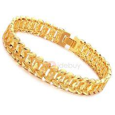 Newyear Tide Mens 18k Gold Plating Bracelet Adorewe