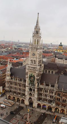 Rathaus from St Peter's Church. Munich, Germany