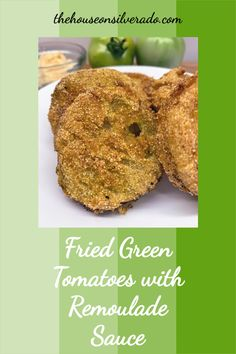 These Fried Green Tomatoes are a crispy and delicious way to serve up tomatoes that haven't reached their full ripeness yet. A great use for end-of-season tomatoes that may not have a chance to turn red. A wonderful side dish or appetizer. Fried Green Tomatoes Movie, Fried Tomatoes, Heirloom Tomatoes, Cherry Tomatoes, Tomato Ideas, Tomato Side Dishes, Freezing Tomatoes, Remoulade Sauce, Southern Dishes
