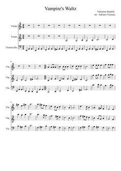 Vampire Waltz sheet violin ile ilgili görsel sonucu