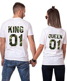 Couple Sweatshirt Femmes Hommes Casual Col Rond Manches Longues Imprimer Lettre De King Queen Tops Pull Amants Blouse Cadeaux