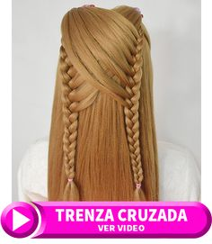 peinados faciles para niñas con trenzas cruzadas