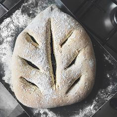 Fougasse Bread with fresh Thyme