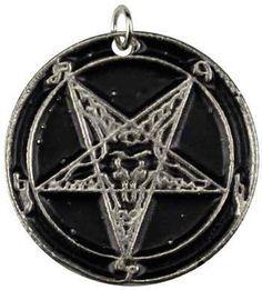 Baphomet Inverted Pentagram amulet
