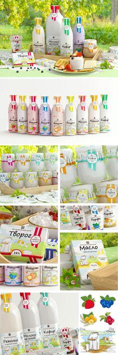 Дизайн упаковки молочной продукции «Волоколамское»
