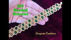 How Perlen Armband machen - YouTu . Beaded Jewelry Patterns, Bracelet Patterns, Beading Patterns, Making Bracelets With Beads, Beaded Bracelets Tutorial, Silver Bracelets, Handmade Bracelets, Diy Bracelet, Pearl Bracelet