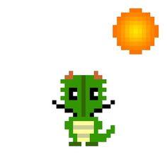 天気実況大阪晴れ #pixelart #dragon #weather #osaka #ドット絵 #ドラゴン #天気 #大阪