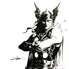 Thor by Jae Lee Comic Book Artists, Comic Book Characters, Marvel Characters, Comic Artist, Comic Character, Comic Books Art, Character Design, Akira, Jae Lee