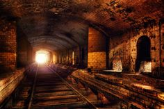 The Light at the Emd of the Tunnel....Old picture of Don Valley brickworks, Toronto, Ontario, Canada