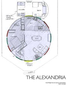 floor plans for a wooden yurt home Dream floor plan Home Yurt